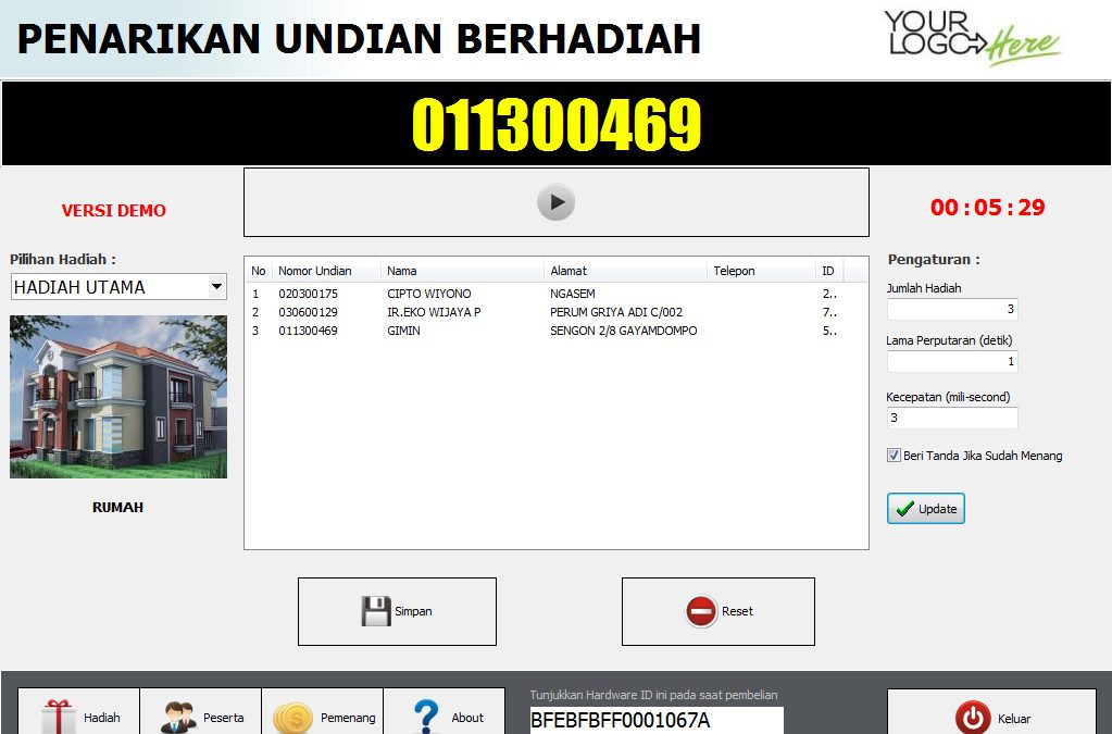 Update Software Undian versi 4.0
